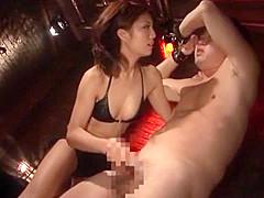 Fabulous Japanese chick Azumi Harusaki in Hottest Lingerie, Femdom JAV clip