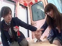 Amazing Japanese whore Chika Hiroko, Nanaka Kyono in Exotic Teens, Handjob JAV movie