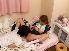 Horny Japanese slut Megumi Shino, Chika Hiroko in Exotic Small Tits, Couple JAV clip