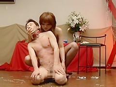 Exotic JAV censored sex scene with horny japanese models