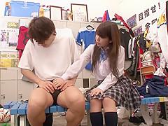 Amazing Japanese whore Reo Saionji, Chihiro Uemura, Yuri Hyuuga, Riina Yoshimi in Horny upskirts, changing room JAV movie