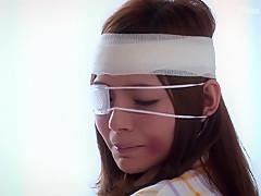 Rio 柚木ティナ 眼帯女子って萌えるよね、嫌そうにフェラシてる顔も余計にもえるわー