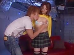 Crazy Japanese whore Akie Harada, Jessica Kizaki, Miyuki Yokoyama in Hottest Stockings/Pansuto JAV video