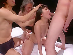 Incredible Japanese model Nene Masaki in Exotic JAV uncensored Gangbang movie