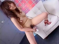 Horny Japanese whore Asuka Kyono in Exotic DP/Futa-ana, Facial JAV scene