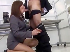 Hottest Japanese model Nanako Hirai in Exotic Office, Blowjob/Fera JAV movie