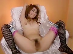 Fabulous Japanese chick Anje Hoshi, Rino Kamiya in Exotic Masturbation/Onanii, BDSM JAV clip
