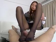 Crazy Japanese girl in Exotic Fetish, Foot Job/Ashifechi JAV movie
