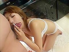 Exotic Japanese model in Horny JAV uncensored Cumshots clip