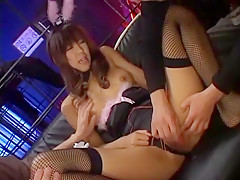 Crazy Japanese girl Maki Sakashita in Best Dildos/Toys, Stockings/Pansuto JAV movie
