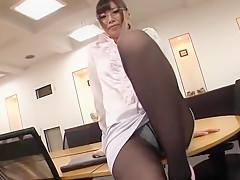 Amazing Japanese slut Kaede Oshiro, Himari Seto, Yuria Shima in Crazy Stockings/Pansuto JAV clip