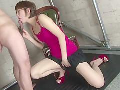 Incredible Japanese model Saori in Exotic JAV uncensored Blowjob movie