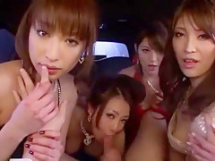 Incredible Japanese girl Minori Hatsune, Megu Fujiura, Kokomi Sakura in Fabulous Gangbang, Handjobs JAV scene