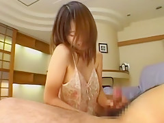 Horny Japanese slut Ryo Hoshi in Incredible Handjobs, Compilation JAV movie