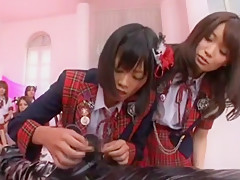 Best Japanese chick Yuzu Shiina, Kotomi Asakura, Miho Tachibana in Horny Blowjob, POV JAV video