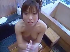 Fabulous Japanese chick Ayumi Sada in Hottest Showers, POV JAV movie