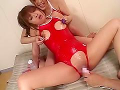 Hottest Japanese slut Reika Kudo, Rei Kitajima, China Yuuki in Horny Babysitters, Hardcore JAV scene