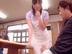 Horny Japanese girl Miwako Yamamoto, Chiharu Aibu, Maria Ono in Amazing Public JAV scene