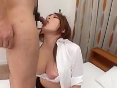 Crazy Japanese chick Ruka Namiki, Mari Hosokawa, Natsumi Horiguchi in Horny Blowjob, Dildos/Toys JAV clip