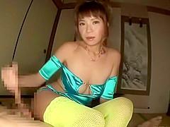 Exotic Japanese chick Sumire Matsu in Horny POV, Footjob JAV video