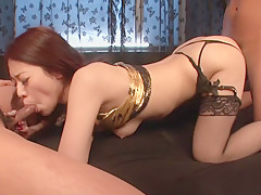 Amazing Japanese whore Ann Yabuki in Hottest JAV uncensored Blowjob clip