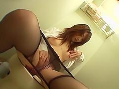 Amazing Japanese girl in Hottest JAV uncensored Stockings clip