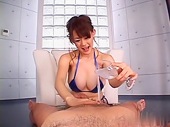 Incredible Japanese slut Rina Wakamiya in Exotic JAV uncensored Handjobs movie