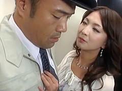 Incredible Japanese model Riko Shinoki, Shizuka Kitatani, Shihori Endo in Amazing Group Sex JAV clip