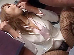 Hottest Japanese whore Yuho Mizushima in Incredible Facial, Threesome JAV video