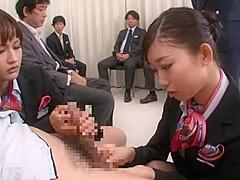 Hottest Japanese chick Mai Miura, Natsume Inagawa in Incredible Group Sex, Hardcore JAV movie