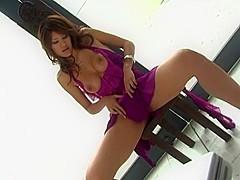 Horny Japanese model Azusa Ayano in Exotic Amateur, Lingerie JAV movie
