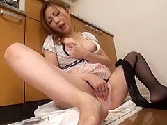 Hottest Japanese girl Rio Hamasaki in Fabulous Maid, MILF JAV clip