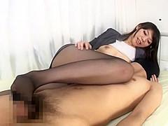 Horny Japanese girl Yuu Asou in Incredible POV, Foot Fetish JAV clip
