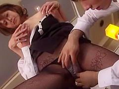 Crazy Japanese slut Reira Amane in Best Lingerie, Office JAV movie