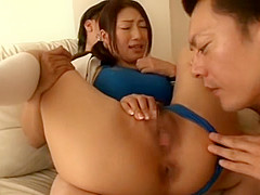 Crazy Japanese chick Reiko Kobayakawa in Incredible Big Tits, Cunnilingus JAV movie