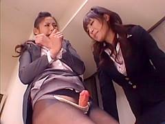 Amazing Japanese chick Risa Murakami, Natsumi Horiguchi in Best Strapon, Lesbian JAV scene