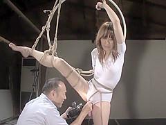 Hottest Japanese slut in Horny BDSM, Mature JAV movie