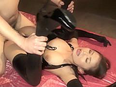Hottest Japanese slut in Fabulous Cunnilingus, Fetish JAV scene