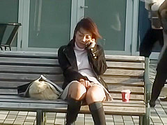 Hottest Japanese girl in Horny Voyeur, Fetish JAV clip