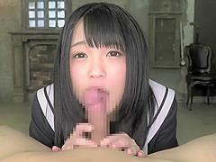 Incredible Japanese girl in Amazing Blowjob, Teens JAV scene