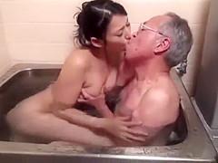 Pleasing Grandpa pt1- more at mantraporn.com