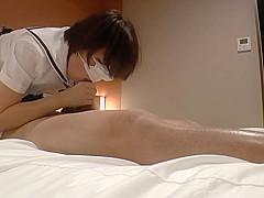 18yo slim student Ikuko play on school uniform