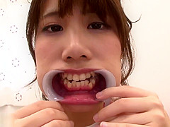 Japanese girl's uvula compilation 4