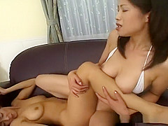 Sexy Asian lesbian domination with the works
