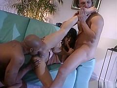 Kamico Taka enjoys double penetration from two sexy men