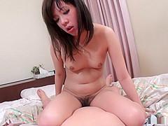 Hairy Asian student  Mao Miyazaki fucked and filmed