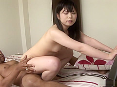 Riko Kashii and her black lover are making love