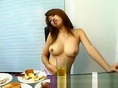 Asian girl belly stuffed part3