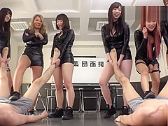 Mean Japanese Audition Foot worship trample femdom
