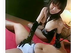 japanese strapon femdom 菊原まどか 痴女惑星 ボンテージ巨乳